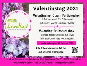 Anzeige Valentinstag 2021