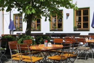 Kastanienbiergarten der Landlust, dem Wirtshaus am Reitsberger Hof